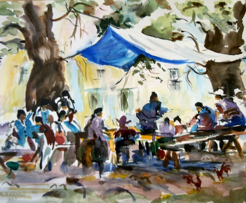 Best Watercolour Meeting Point by Alice Green-Aernout