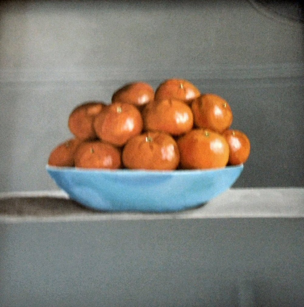 Best Oil painting Oranges in a Bowl by Mike Dudfield